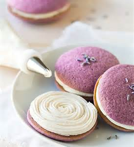 Easy to make lavender whoopie pies filled with a simple vanilla bean