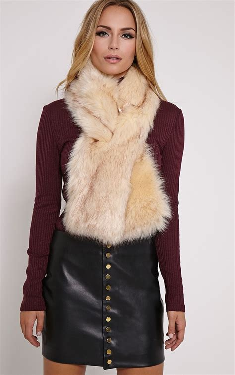 toni faux fur scarf hats scarves gloves
