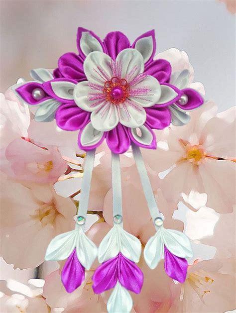 Floral Barrette handcrafted floral barrette tsumami kanzashi
