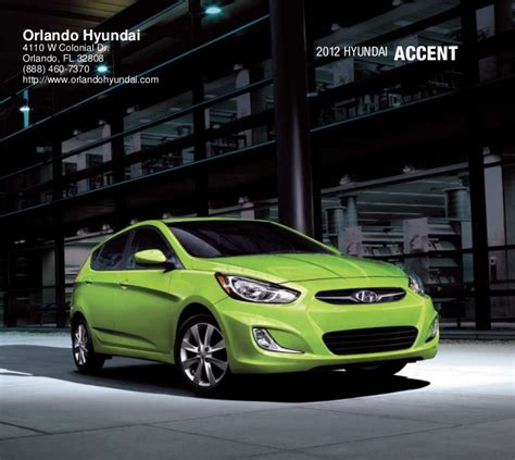 Hyundai Dealers In Orlando by 2012 Hyundai Accent For Sale Fl Hyundai Dealer Orlando