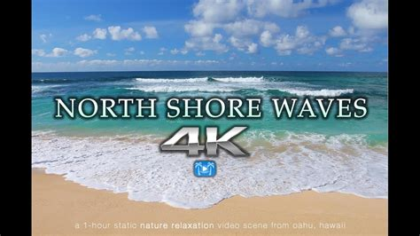 blue waves in motion 4k relaxing screensaver youtube 4k north shore waves oahu endless video screensaver