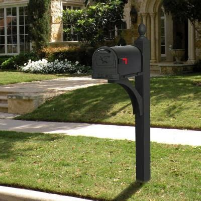 gibraltar mailboxes ardmore deluxe black post mailbox