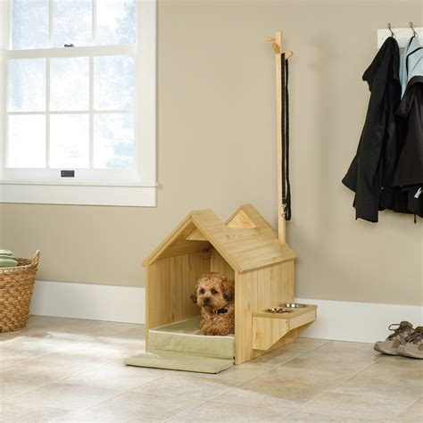 inside dog house indoor dog house and pet station from sauder dog milk