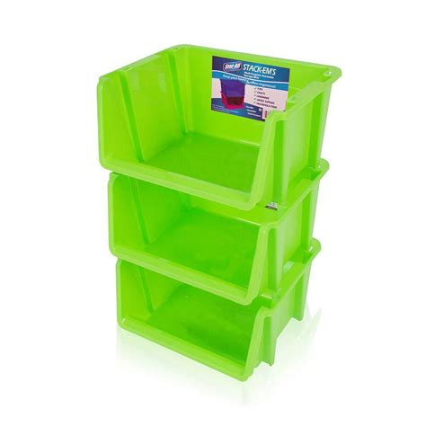 colored storage bins stackable green baskets space saving multi purpose colored