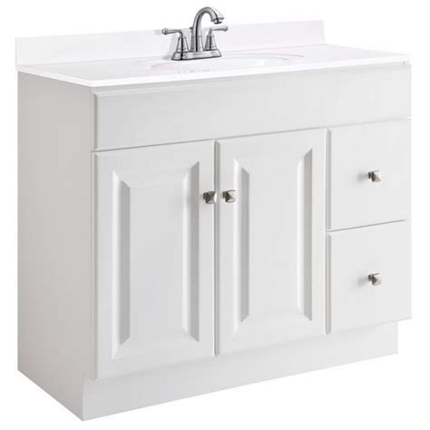 design house white vanity design house 545095 wyndham white semi gloss vanity