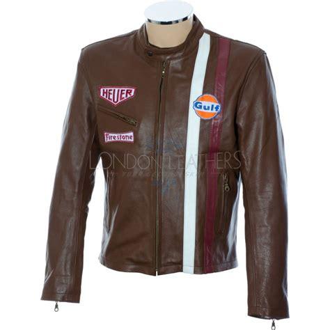 Mcqueenleather Jacket steve mcqueen legends brown gulf leather jacket