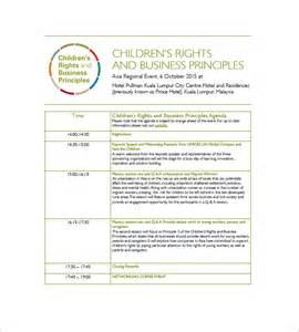 event planning agenda template 10 event agenda templates free sle exle format