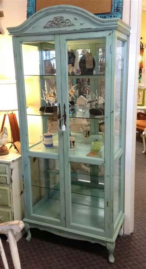 shabby chic curio cabinet angelica paints everything