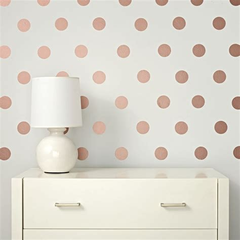 Polka Dot Stickers For Walls lottie dot rose gold decals the land of nod