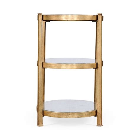small glass side table gold swanky interiors 3 tier glass side table gold swanky interiors