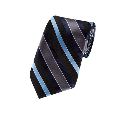 Navy Blue L by L 06 Navy Steel Blue Black And Charcoal Multi Striped