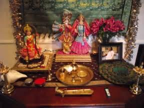 lakshmi krishna  radha diwali altar janmashtami