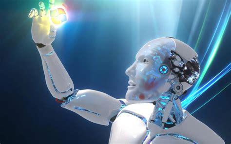 fondos de pantalla robots fondo pantalla robot humanoide 3d