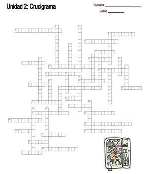preguntas y respuestas worksheet answers spanish crossword puzzle crucigrama food la comida 1