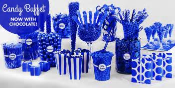 Favor bags this royal blue candy buffet gives you dozens of color