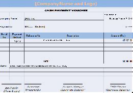 payment voucher format in ms excel free download
