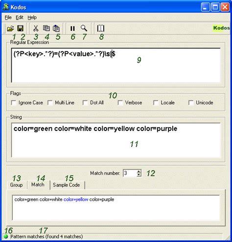 python pattern matching library kodos the python regex debugger