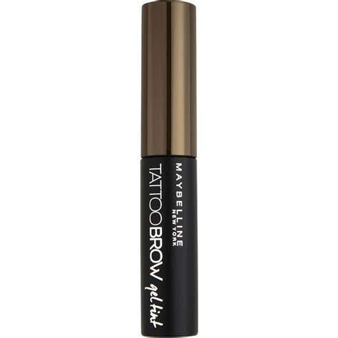 tattoo brow maybelline coles maybelline tattoo brow gel tint medium brown 5ml woolworths