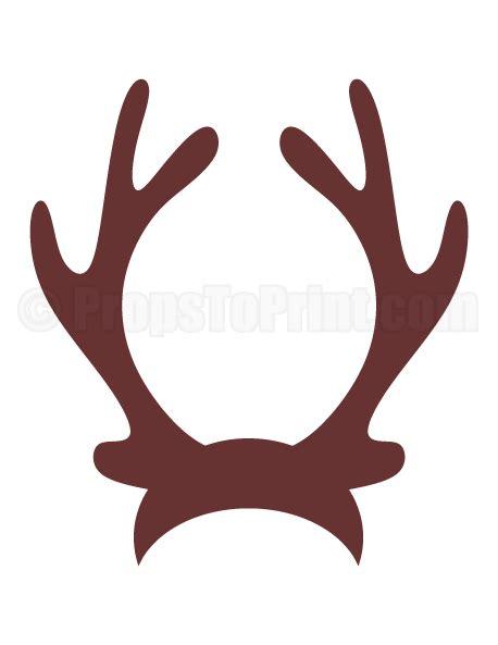 rudolph antlers template printable reindeer antlers photo booth prop create diy