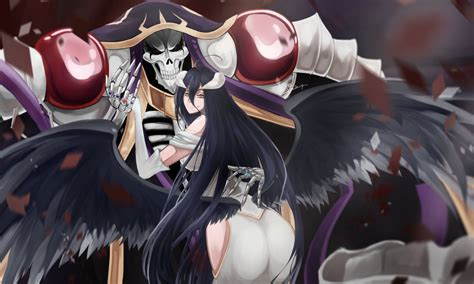 Anime Like Overlord by Albedo And Ainz Ooal Gown Hd Wallpaper And Background