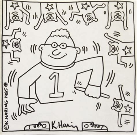 free coloring pages of keith haring