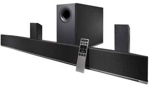 visio sound bar vizio 42 5 1 home theater sound bar with subwoofer and