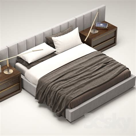 rh beds 3d models bed rh modern custom vertical channel