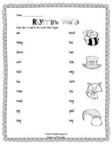 7 best images of rhyming words printables and picture