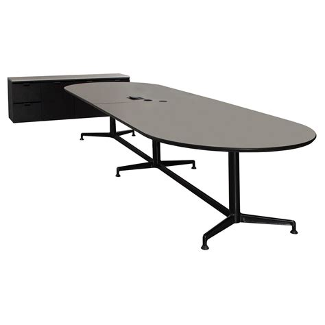 Grey Meeting Table Ki Used 12ft Laminate Conference Table And Credenza Gray National Office Interiors And