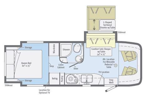 winnebago floor plans winnebago view motorhome for sale view class c motorhome