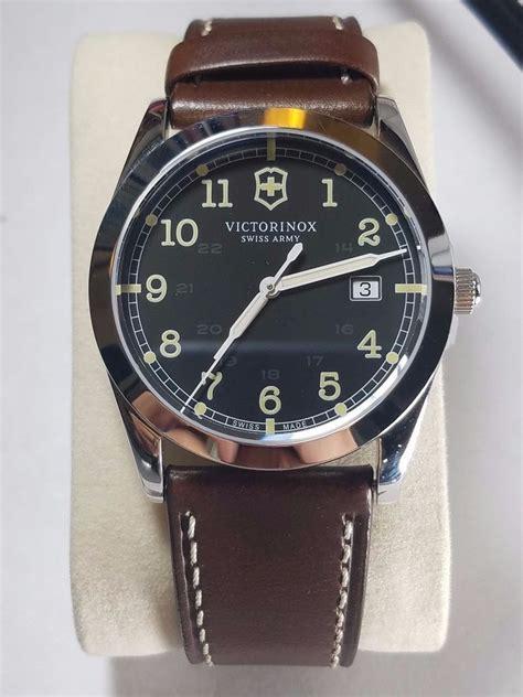 Swiss Army Black And Brown victorinox swiss army black ss brown leather quartz
