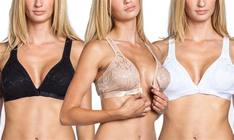 Wireless Front Closure Bra 3 pk front closure s bras groupon goods