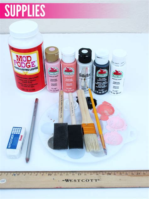 Matting Supplies by Diy Painted Mat How To Thesassylife
