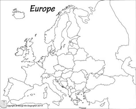 printable map of us and europe countries without any labels outline outline of europe map