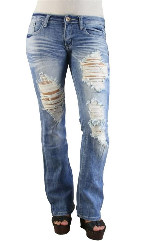 light wash ripped light wash ripped bootcut in dieser saison