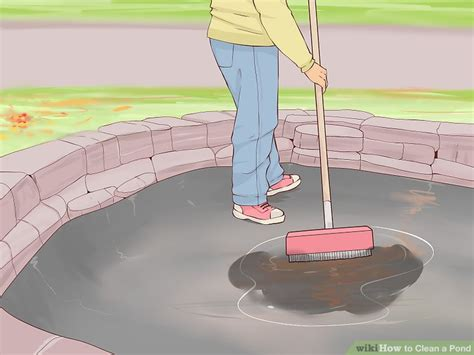 how to clean a pond without draining it how to clean a pond with pictures wikihow