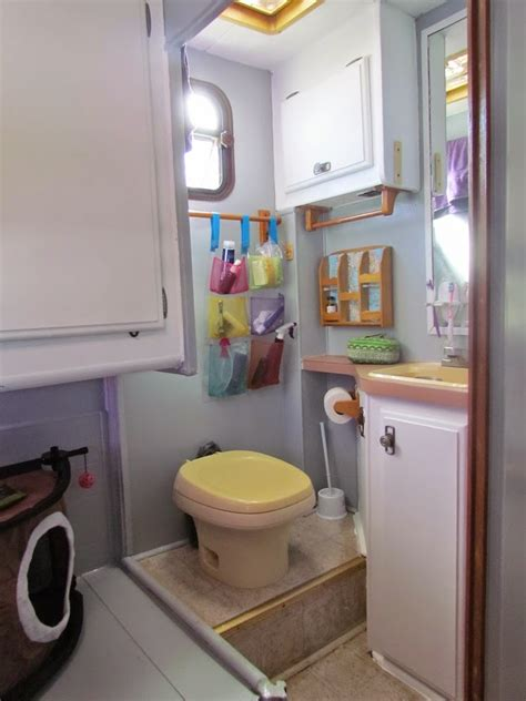 rv bathroom storage total renovation of a 1988 fleetwood tioga motorhome