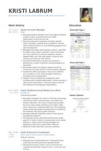 senior account manager resume samples visualcv resume