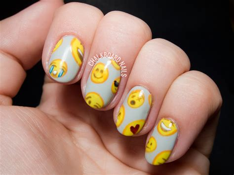 emoji nail art tutorial emoji pattern nail art chalkboard nails nail art blog