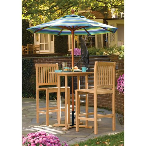 oxford garden sonoma bar height patio bistro set outdoor