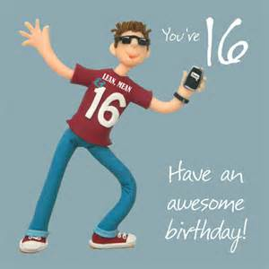 birthday card for 16 year boy boys 16th birthday greeting card cards kates
