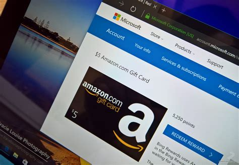 Amazon E Gift Card How To Use - how to score free amazon gift cards using the microsoft rewards program pureinfotech