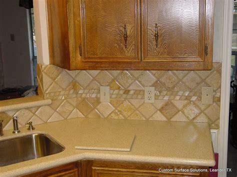 Travertine Tile Countertop by Kitchen Back Splash Noche Travertine Tile Silestone