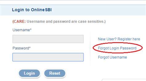 reset online sbi password how to change login password in sbi online