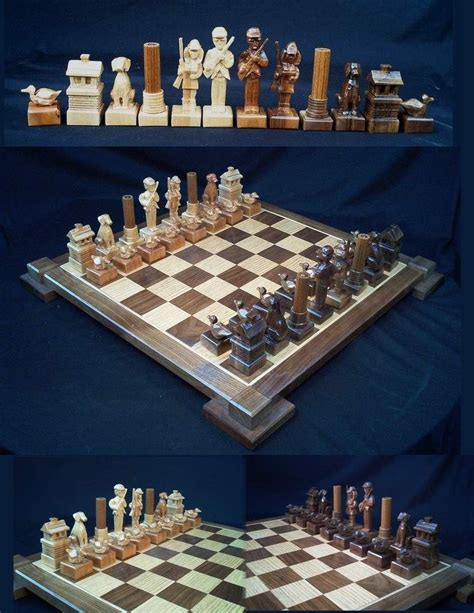 custom chess sets custom the duck s chess set by jim arnold by jim arnold s carved custom themed chess
