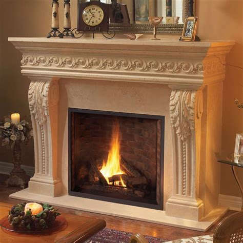 Cast Fireplace Mantels by 1110 Scroll 529 Cast Fireplace Mantel Mantle