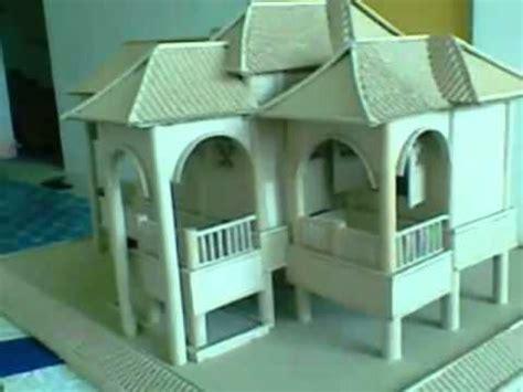cara membuat replika rumah dari kardus replika rumah kraf youtube
