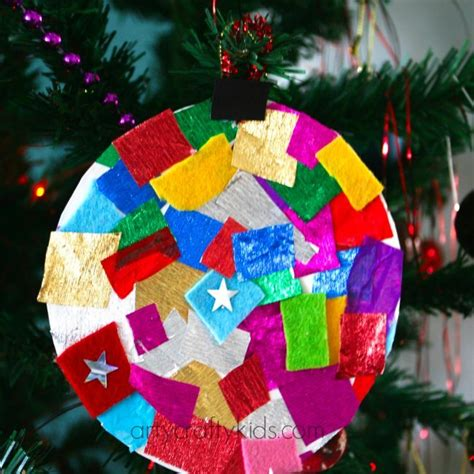 baubles craft paper plate baubles