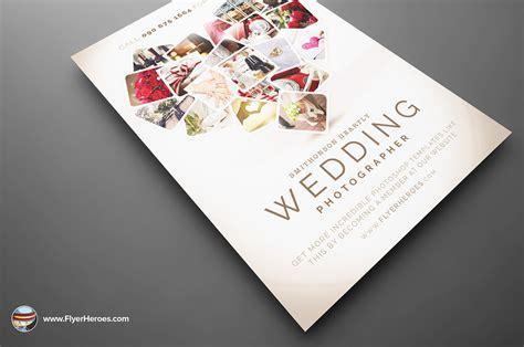 photography psd templates wedding photographer flyer template on behance