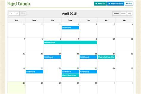 Project Management Calendar Construction Project Calendar Cm Fusion